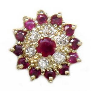 N283 14K RUBY DIAMOND SLIDE